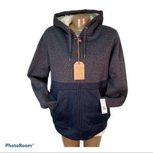 NWT Weatherproof Vintage Men's Sherpa-Lined Hoodie